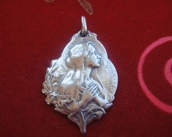 925 sterling silver Virgin Mary pendant, silver virgin Mary,virgin Mary , silver pendant