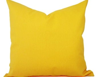 Two Solid Yellow Throw Pillow Covers - Yellow Couch Pillow Covers - Pillow - Yellow Gold Pillow - Decorative Pillow - Solid Yellow Pillow