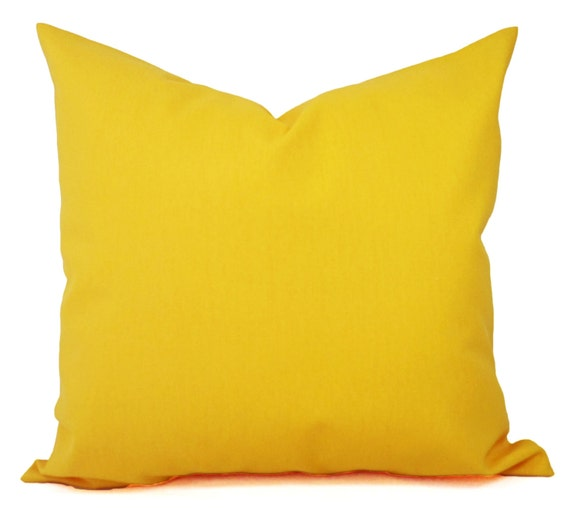 Yellow Down Throw Pillows : Two Solid Yellow Throw Pillow Covers Yellow Couch Pillow