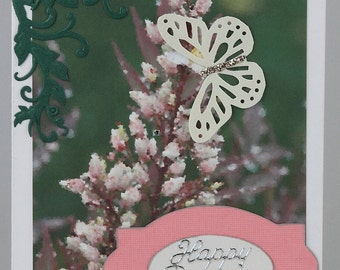 Heavenly Bamboo Flower Birthday Card