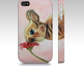 Bunny/ rabbit  cell phone case for iPhone 4/ 4S, 5/ 5S, iPhone 6,  samsung galaxy s3, samsung galaxy s4, samsung galaxy s5, phone case.
