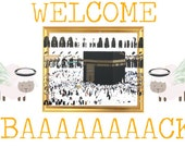 Hajj Pilgrimage Greetings 4X6 Postcard. 2.99