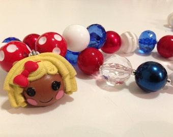 Chunky Necklace and Charm Bracelet Set: Lalaloopsy, Dot Starlight,  Inspired