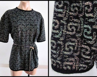 IRIDESCENT Lame vintage 80s 1980s sweater // OSFM // Rebecca Moses made in Italy