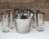 Vintage Kimiko Guardian Glassware, Ice Bucket and Thongs
