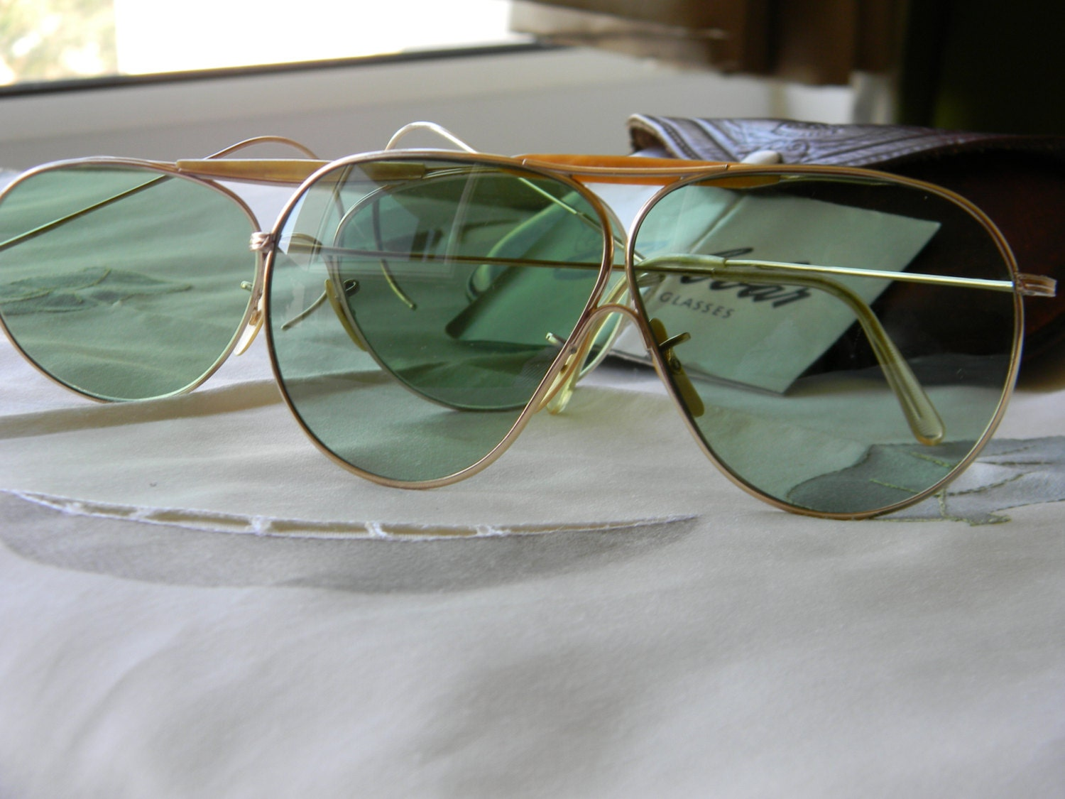 Two Pairs Of Vintage American Optical Calobar Sunglasses Ao