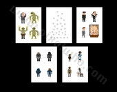 Pixel (8 bit) Doctor Who Character Card Set 2