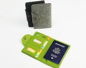 Felt Passport Holder Passport Cover Card Holder Case Sleeve Bag Wallet Card Keeper Credit Card Holder E443