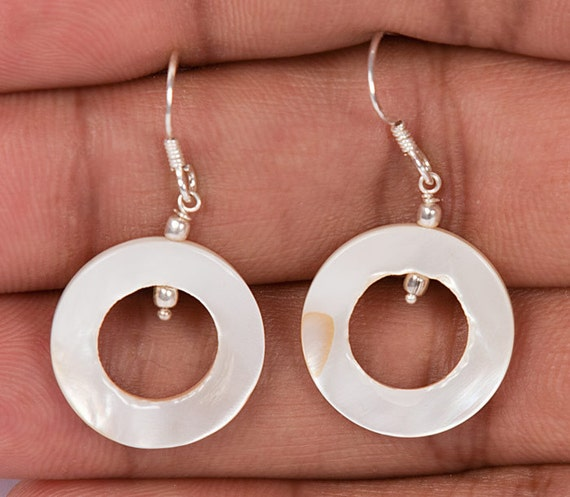 Exotic Circle Shell Earring