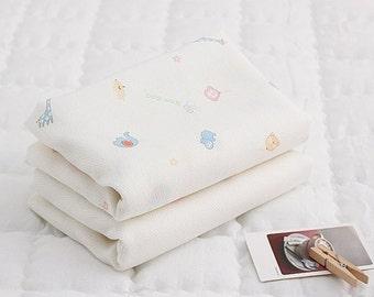 Organic Bamboo Cotton Gauze Fabric by the yard  Korean Gauze Sewing Supplies -  Cute Bamboo CH22482