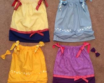 Disney Princess Inspired Pillowcase Dresses