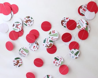 Christmas Garland, Christmas Paper Garland, Wedding Garland, Christmas Decor, Christmas Decoration, Christmas Party Garland, Photo Prop