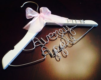 Personalized baby hangers for boy or girl