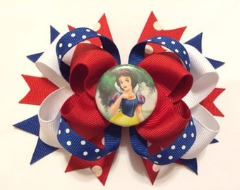 Snow White Loopy Layered Hairbow