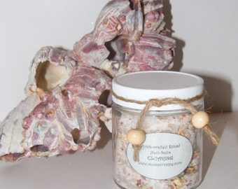 Clearing Ritual Bath Salts 4 oz - handcrafted Wicca Pagan Ritual Witchcraft