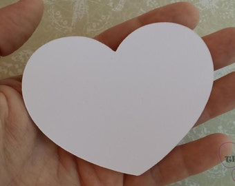 Bride Groom Advice Cards Wedding Shower Wedding Place Cards White Paper Heart 100  Large Heart Die Cuts White Wedding Heart (3x2.5)