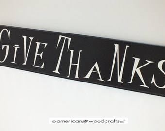 "Thanksgiving Wood Sign Signs with Sayings  5.5""x24"""