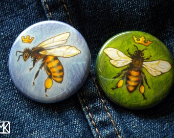 Queen Bee buttons