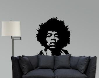 Jimmy Hendrix Vinyl wall decal