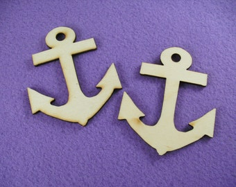 2 anchors wooden /  8 x 6,5 cm (13-0003D)