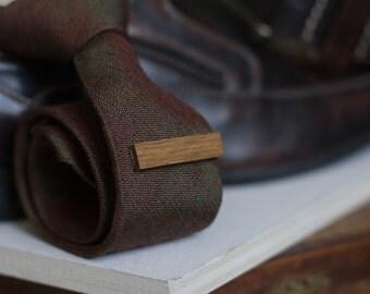 Tie Clip - Wooden Handmade (White Oak)
