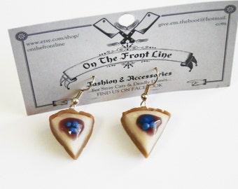 Blueberry Cheesecake Earrings Berry Miniature Cake Sweet Food Kawaii Lolita Decoden Decora Jewellery