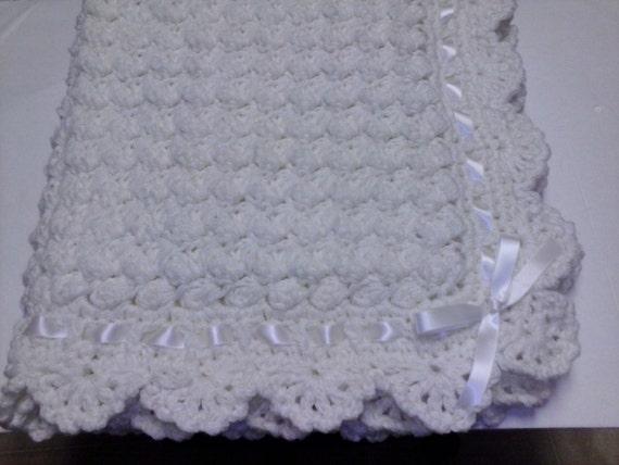Crochet Baby Blanket Cream Puff Hat Booties by ...