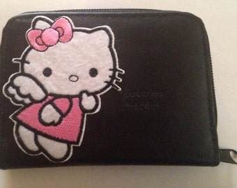 Hello Kitty Leather Wallet Credit Card / ID Holder