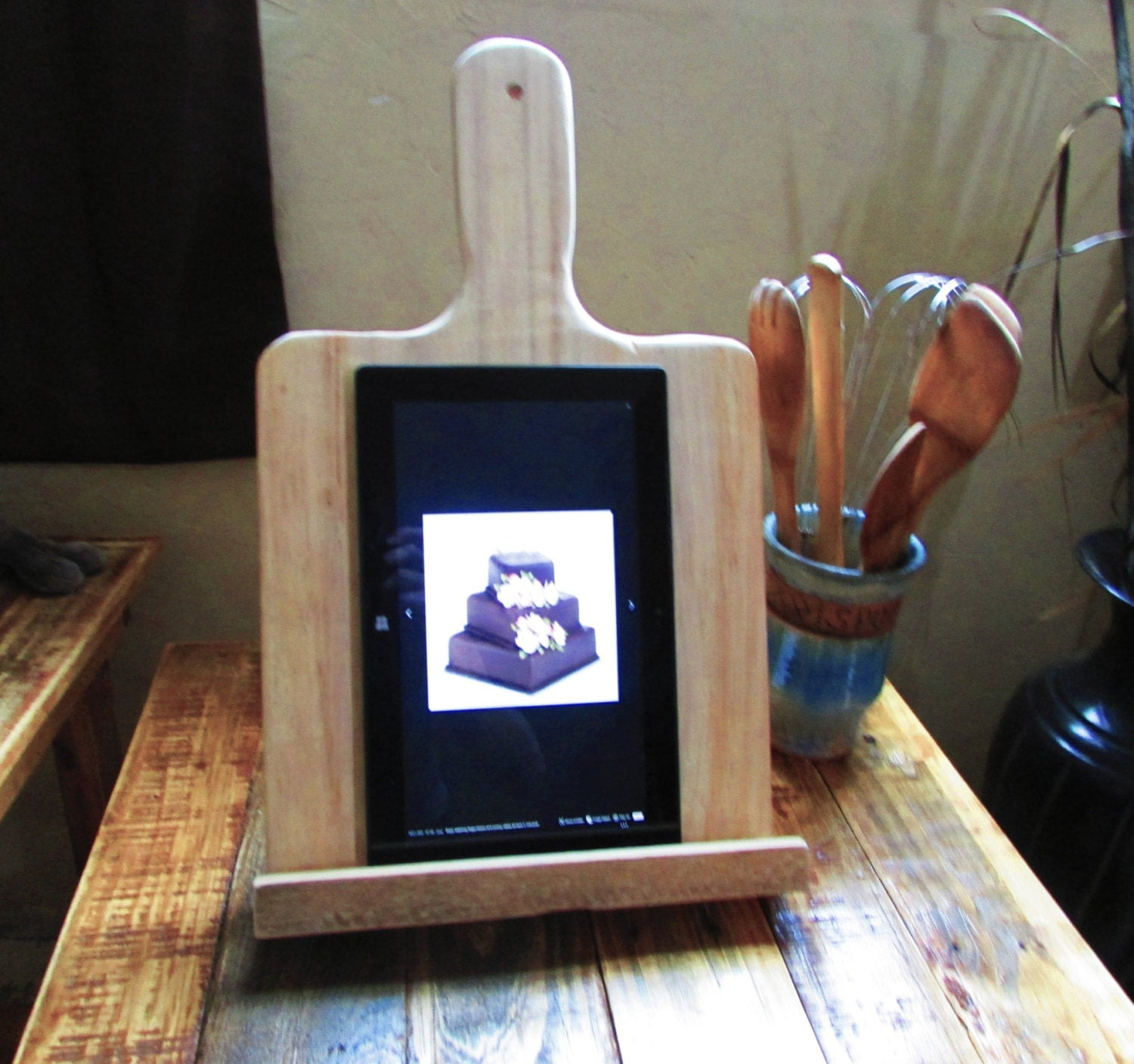 how to make a recipe book holder