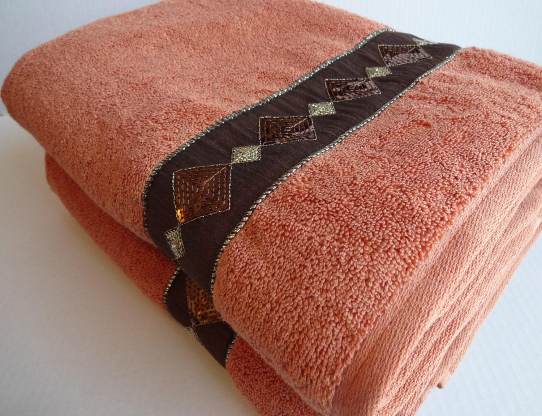 orange pumpkin terracotta bath towels orange towels by