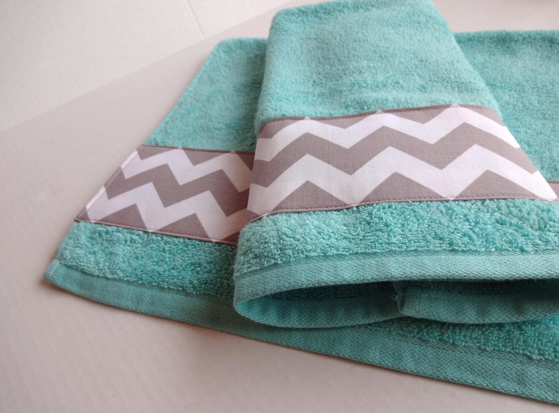 zoom. Grey Chevron and Aqua towel bath towels aqua bathroom grey