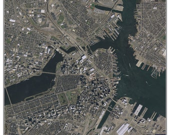 Boston, Massachusetts - 2013 Aerial Photo  Composite