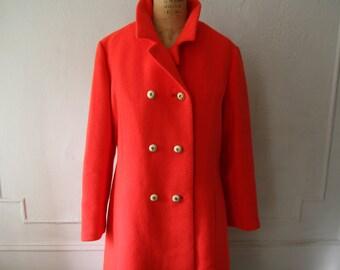 SALE Vintage 1950's Bright Red Women's Coat