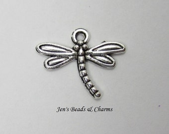 10 Pcs Dragonfly Charms