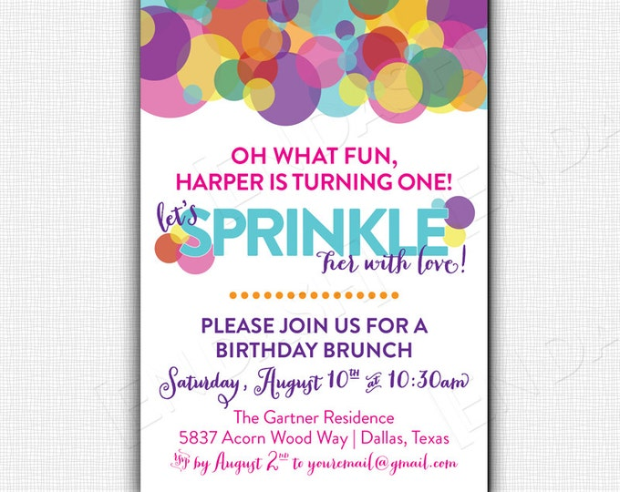 SPRINKLED WITH LOVE Party Invite