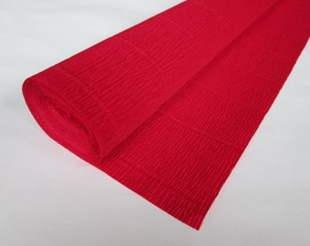 Crepe Paper Roll-140g.- #986 Red-Gift Wrapping Paper- Paper Flower- Paper Decoration
