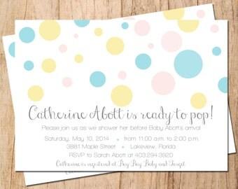 Ready to POP Baby Shower Invitation . Printable Invitation . JPEG or PDF File