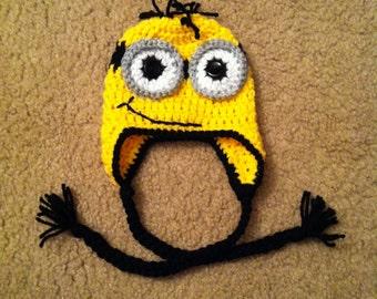 Photo prop: Crocheted newborn-sized Minion-inspired Hat