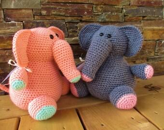 ELEPHANT: crochet stuffed animal