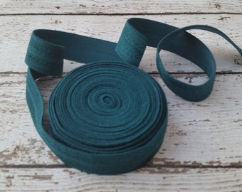 5/8 TEAL Fold Over Elastic 5 or 10 Yards