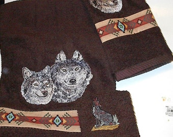 WOLF TOWEL SET