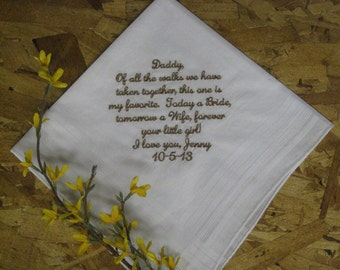 FATHER Of The BRIDE Wedding Handkerchief Hanky Hankie - Still your little girl - Wedding Gift for Father of the Bride - FoB - Dad
