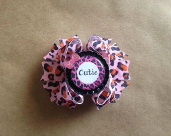 Leopard print Cutie hair bow