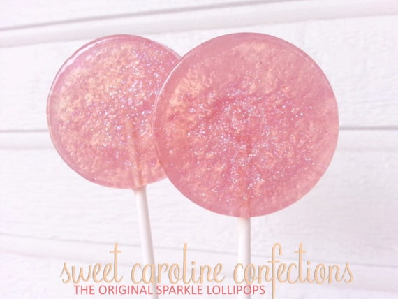 blush wedding favor lollipops