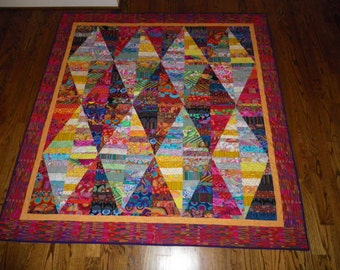 Colorful Strip Quilt or Wall Hanging
