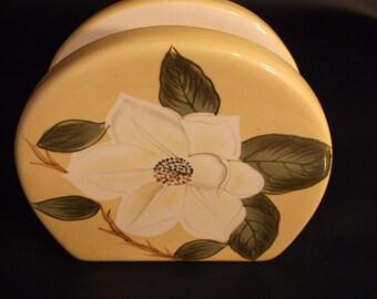 Baum Bros. napkin holder from magnolia collection