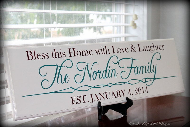 Monogrammed Wedding Gifts For Couple : Wedding Gifts for Couple Personalized by ItsASignAndDesigns