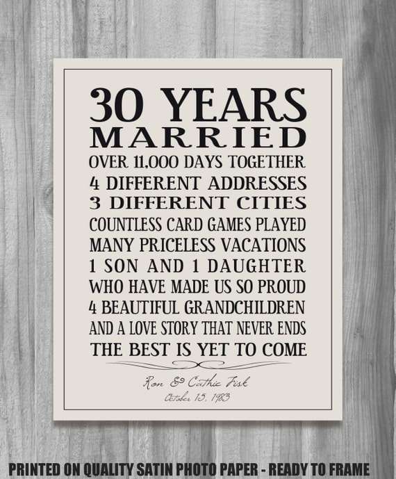 Anniversary Gifts By Years Married: Personalized Anniversary Gift Our Story Time By
