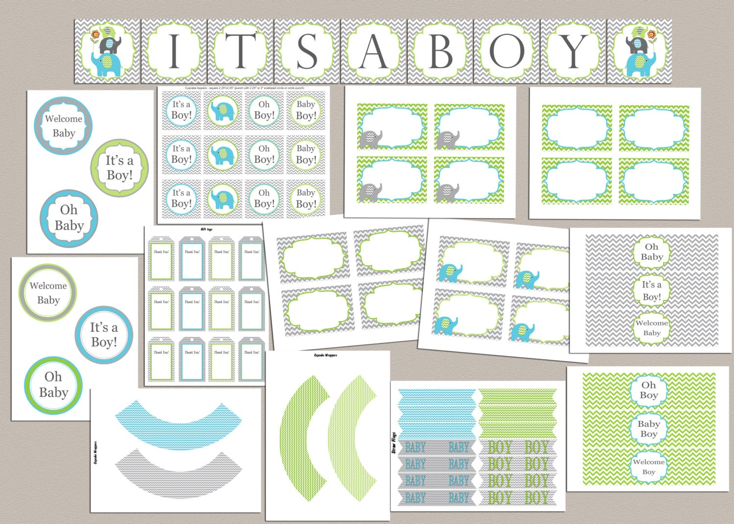 Baby shower decorations boy baby shower party pack baby shower for Baby shower decoration packs