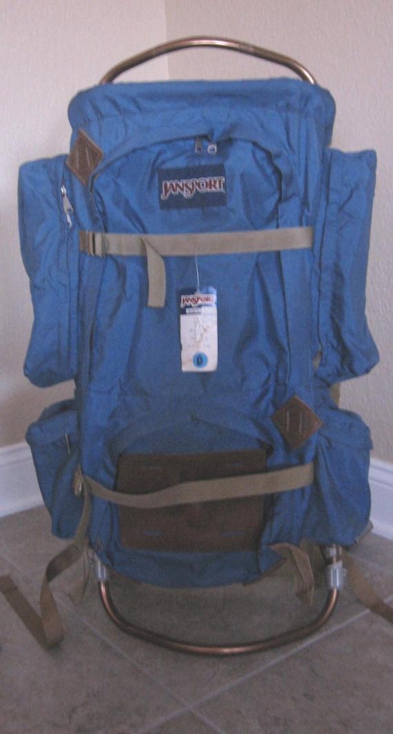 Vintage Blue Jansport D-5 Vintage Hiking/Backpack Vintage